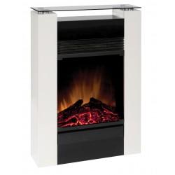 DIMPLEX GISELLA BLANC 750/1500w  cheminée décorative OPTIFLAME et chauffage électrique imitation buches