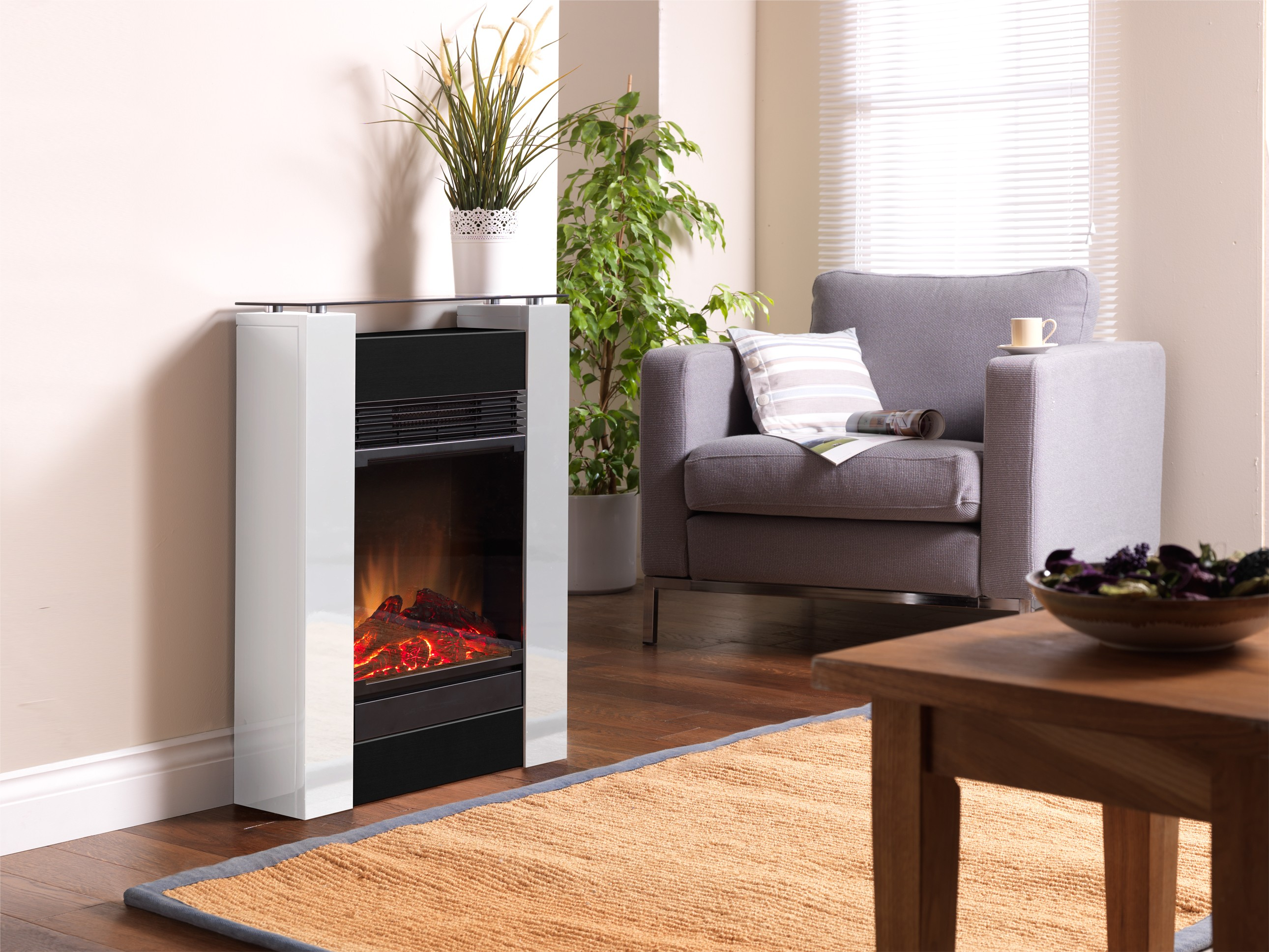 c hemin e d corative optiflame dimplex gisella blanc my. Black Bedroom Furniture Sets. Home Design Ideas