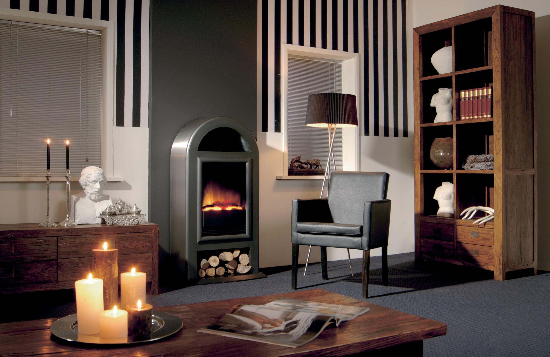 Dimplex nordic de luxe gris 1000 2000w poele d coratif - Chauffage electrique imitation cheminee ...