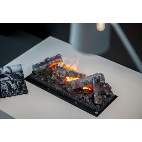 Foyer encastrable universel décoratif OPTIMYST CASSETTE 600 Noir