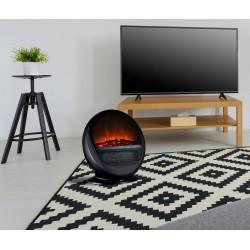 Cheminée decorative design Pop Fire Noire