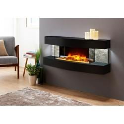 Cheminée électrique design Lounge noire